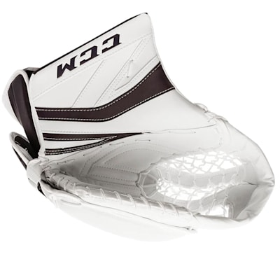 White/Navy (CCM Premier P2.9 Goalie Catch Glove - Intermediate)