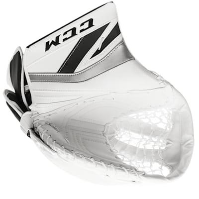 White/Black/Silver (CCM Premier P2.9 Goalie Catch Glove - Senior)