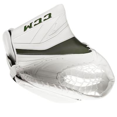 White/Dark Green (CCM Premier P2.9 Goalie Catch Glove - Senior)