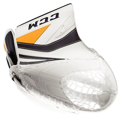 White/Navy/Gold (CCM Premier P2.9 Goalie Catch Glove - Senior)