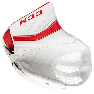 White/Red (CCM Premier P2.9 Goalie Catch Glove - Senior)