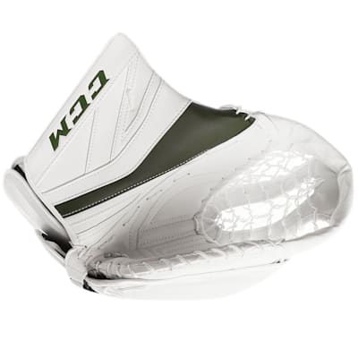 White/Dark Green (CCM Premier P2.9 Goalie Catch Glove - Senior)