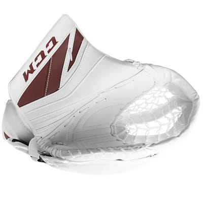 White/Maroon (CCM Premier P2.9 Goalie Catch Glove - Senior)