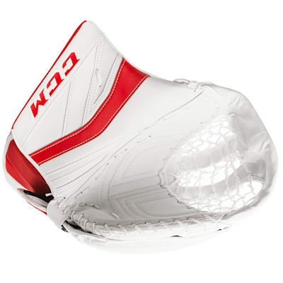 White/Red (CCM Premier P2.9 Goalie Catch Glove - Senior)