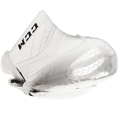 White/White (CCM Premier P2.9 Goalie Catch Glove - Senior)
