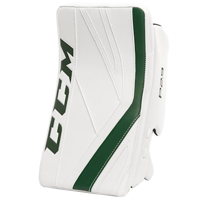 White/Dark Green (CCM Premier P2.9 Goalie Blocker - Senior)