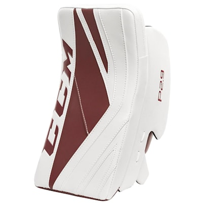 White/Maroon (CCM Premier P2.9 Goalie Blocker - Senior)
