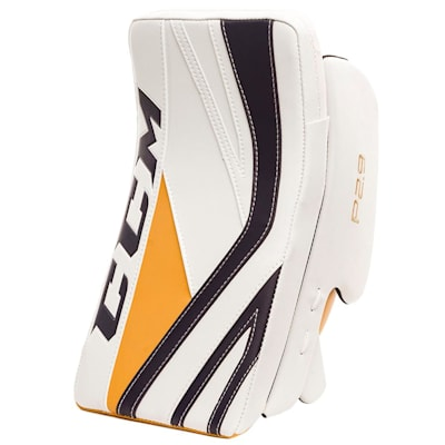 White/Navy/Gold (CCM Premier P2.9 Goalie Blocker - Senior)