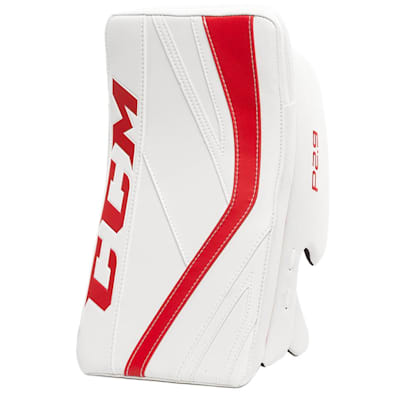 White/Red (CCM Premier P2.9 Goalie Blocker - Senior)