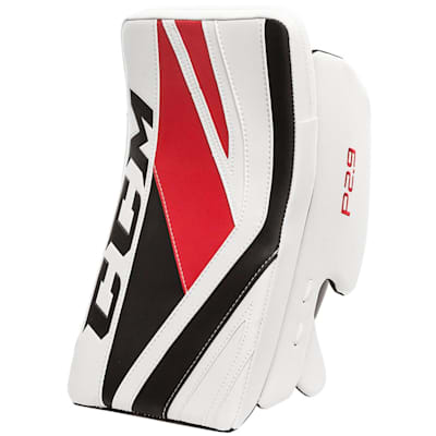 White/Red/Black (CCM Premier P2.9 Goalie Blocker - Senior)