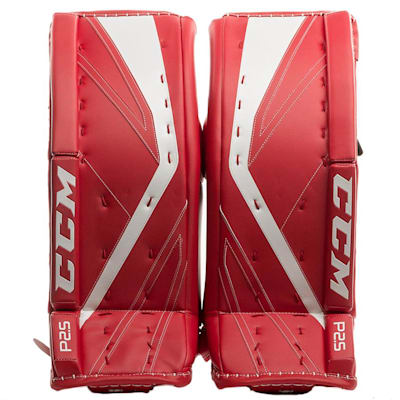 Red/White (CCM Premier P2.5 Goalie Leg Pads - Junior)