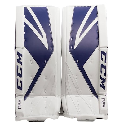 White/Blue (CCM Premier P2.5 Goalie Leg Pads - Junior)