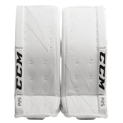White/White (CCM Premier P2.5 Goalie Leg Pads - Junior)