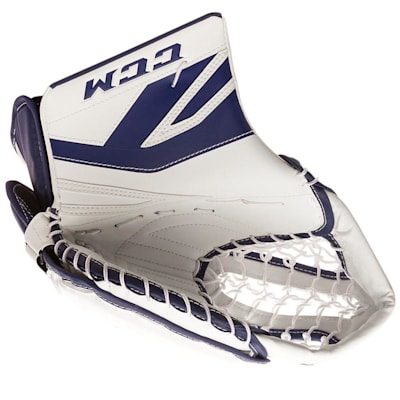 White/Blue (CCM Premier P2.5 Goalie Catch Glove - Junior)