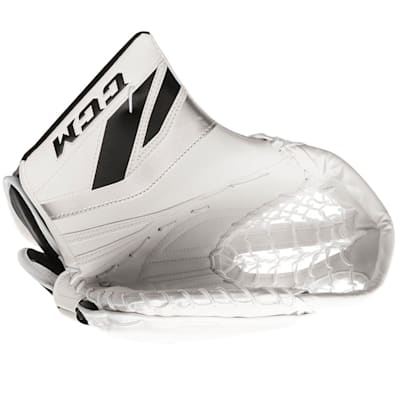 White/Black/Silver (CCM Premier P2.5 Goalie Catch Glove - Junior)