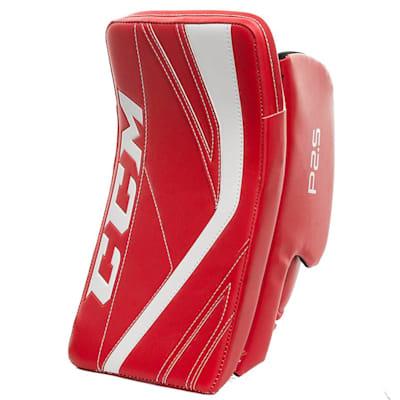 Red/White (CCM Premier P2.5 Goalie Blocker - Junior)