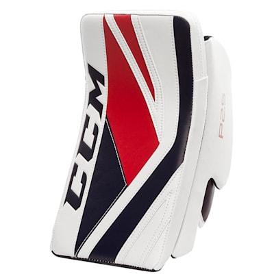 White/Navy/Red (CCM Premier P2.5 Goalie Blocker - Junior)