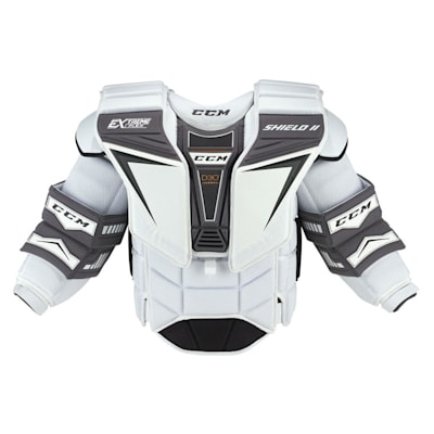 White (CCM Extreme Flex Shield II Goalie Chest And Arm Protector - Senior)