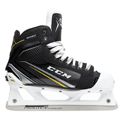 Outside (CCM Tacks 9060 Goalie Skates - Senior)