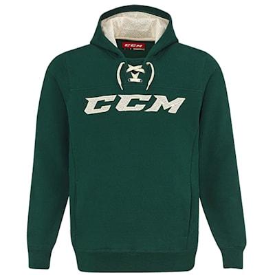 Dark Green/Cream (CCM True To Hockey Pullover Lace Hoody - Senior)