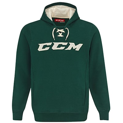 Dark Green/Cream (CCM True To Hockey Pullover Lace Hoody - Adult)