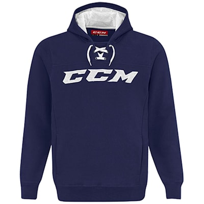 Navy/White (CCM True To Hockey Pullover Lace Hoody - Adult)