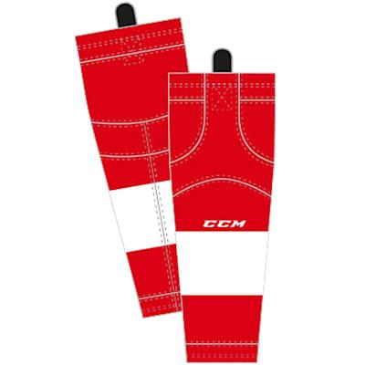Home/Dark (CCM SX8000 Game Sock - Detroit Red Wings - Intermediate)