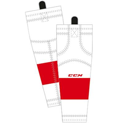 Away/White (CCM SX8000 Game Sock - Detroit Red Wings - Intermediate)