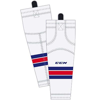 Away/White (CCM SX8000 Game Sock - New York Rangers - Intermediate)