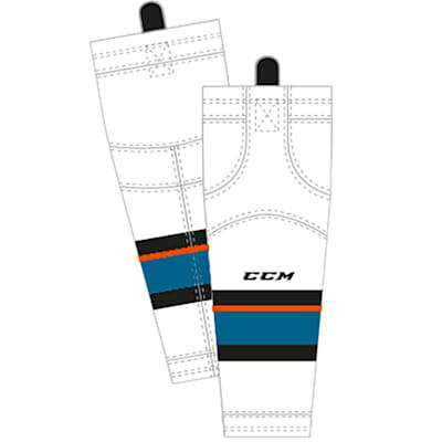 Away/White (CCM SX8000 Game Sock - San Jose Sharks - Junior)