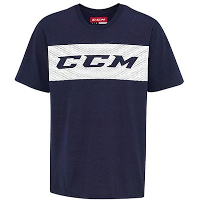 Navy/White (CCM True To Hockey Cotton Short Sleeve Youth Tee - Youth)