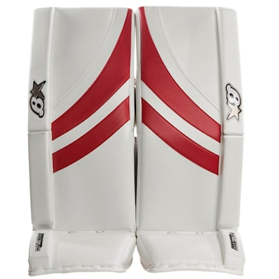 White/Red (Brians GNETiK Pure™ Goalie Leg Pads - Junior)