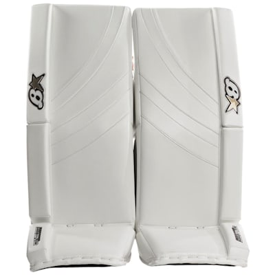 White/White (Brians GNETiK Pure™ Goalie Leg Pads - Intermediate)