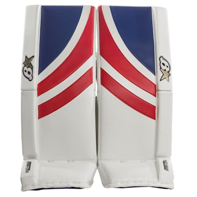 White/Blue/Red (Brians GNETiK Pure™ Goalie Leg Pads - Senior)