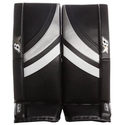 Black/White/Silver (Brians GNETiK Pure™ Goalie Leg Pads - Senior)