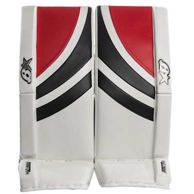 White/Black/Red (Brians GNETiK Pure™ Goalie Leg Pads - Senior)