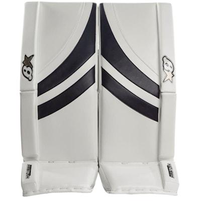 White/Navy (Brians GNETiK Pure™ Goalie Leg Pads - Senior)