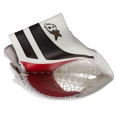 White/Black/Red (Brians GNETiK Pure™ Goalie Catch Glove - Intermediate)