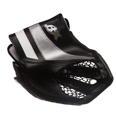Black/White/Silver (Brians GNETiK Pure™ Goalie Catch Glove - Senior)