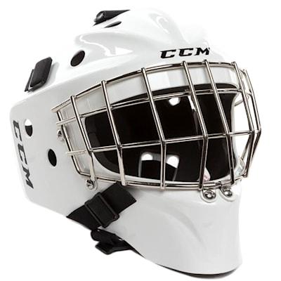 White (CCM 1.5 Goalie Mask - Youth)