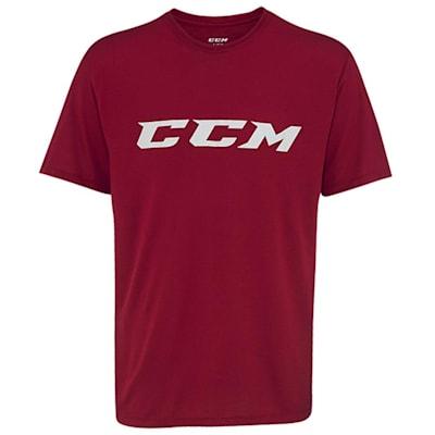 Wine (CCM Campus Short Sleeve Tee Shirt - Mens)