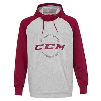 Wine/Grey (CCM Campus French Terry Pullover Hoody - Youth)