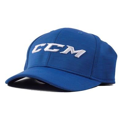 Blue/White Front (CCM Tech Structured Flex Fit Hat - Adult)