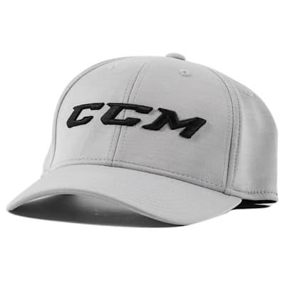 Light Grey/Black Front (CCM Tech Structured Flex Fit Hat - Adult)