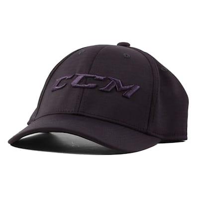 Textured Navy Front (CCM Tech Structured Flex Fit Hat - Adult)