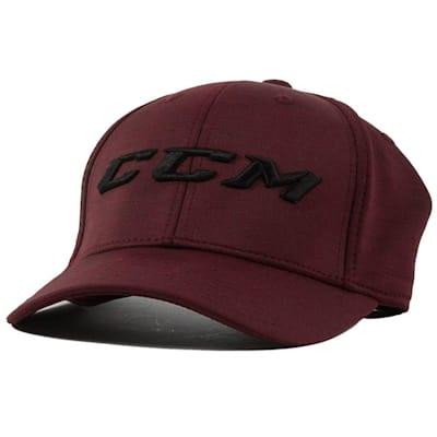 Wine Front (CCM Tech Structured Flex Fit Hat - Adult)