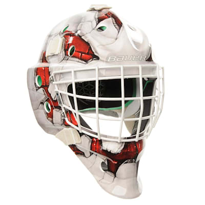 Red (Bauer NME4  Wall Decal Goalie Mask - Senior)