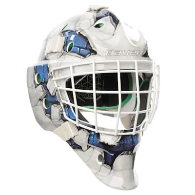 Blue (Bauer NME4  Wall Decal Goalie Mask - Senior)