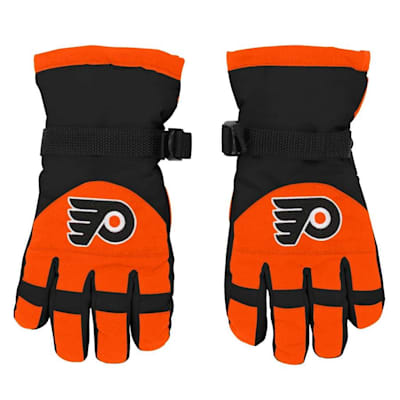 Front (Adidas Nylon Winter Gloves - Philadelphia Flyers - Youth)