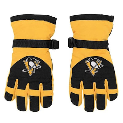 Front (Adidas Nylon Winter Gloves - Pittsburgh Penguins - Youth)